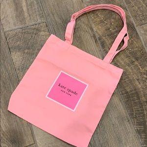 Kate Spade New York Pink Canvas Tote Bag